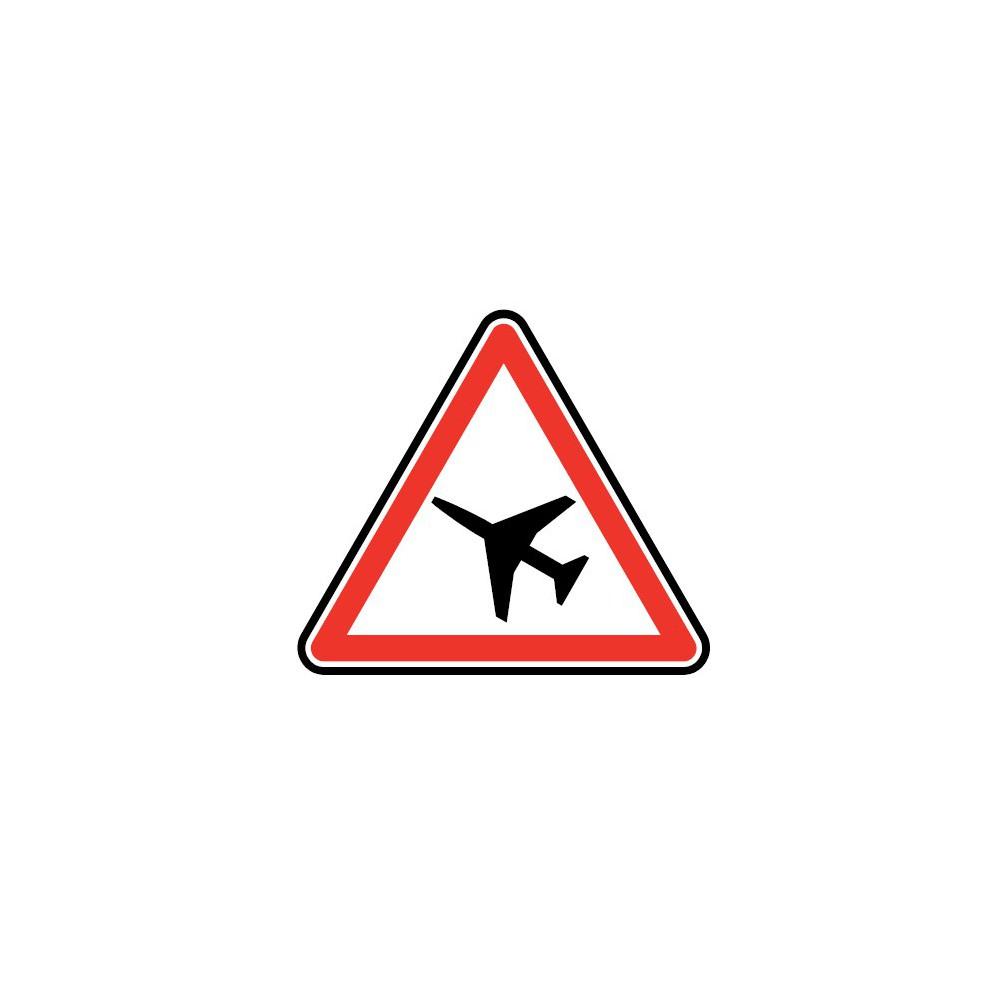 Panneau Traversée d'une aire de danger aérien - A23