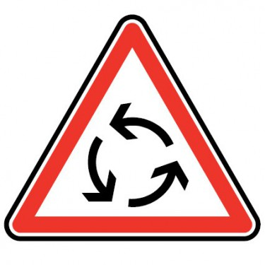 Panneau routier - type AB Intersection - AB25 carrefour à sens giratoire - Signalétique Express