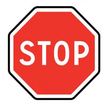 Panneau AB4 Stop