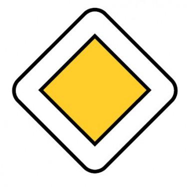 Panneau Route à caractère prioritaire - AB6