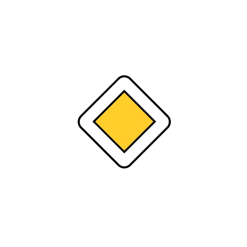 Panneau AB6 Route à caractère prioritaire
