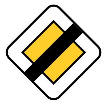 Panneau Fin de route à caractère prioritaire - AB7