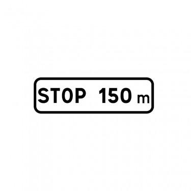 Panonceau Stop avec distance personnalisable - M5b