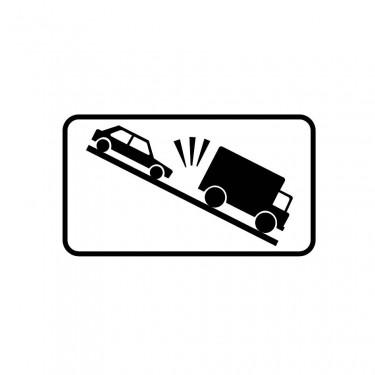 Panonceau Montée risque de heurt de véhicules lents - M9j1