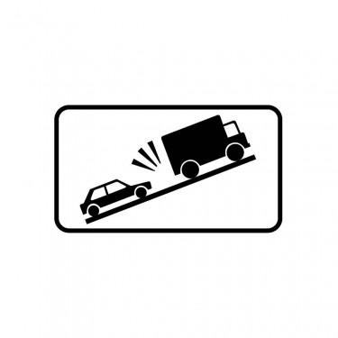 Panonceau Descente risque de heurt de véhicules lents - M9j2