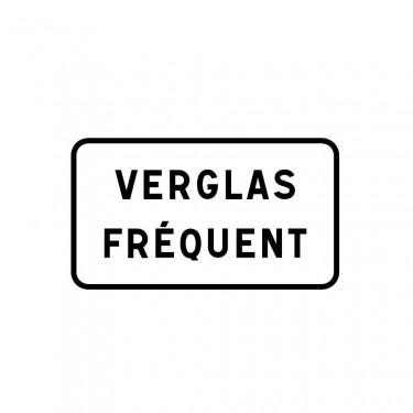Panonceau Verglas fréquent ou indication personnalisable sur 1  ligne - M9z2