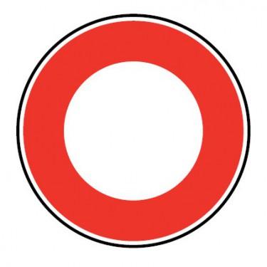 Panneau routier-type B interdiction - B0  toute circulation de véhicule est interdite dans les deux sens à compter du panneau