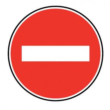 Panneau routier-type B interdiction  - B1 sens interdit, toute circulation de véhicule est interdite dans ce sens