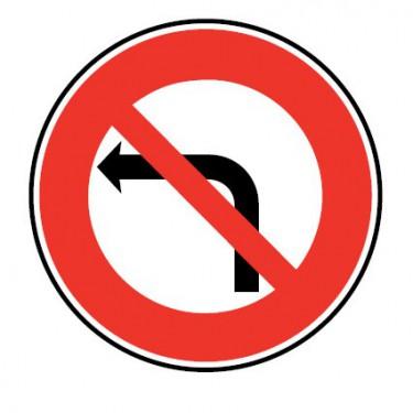 Panneau routier-type B interdiction  - B2a interdiction de tourner à gauche à la prochaine intersection - Signalétique Express