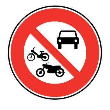 Panneau Accès interdit aux véhicules à moteur - B7b