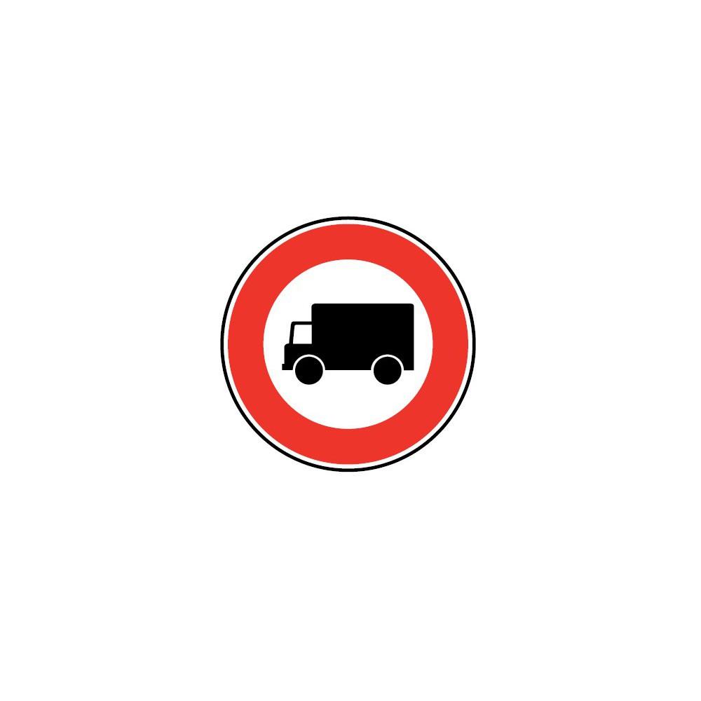 Panneau Accès interdit aux véhicules affectés au transport de marchandises - B8