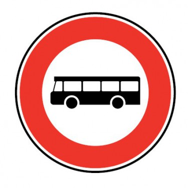 Panneau Accès interdit transports en commun - B9f