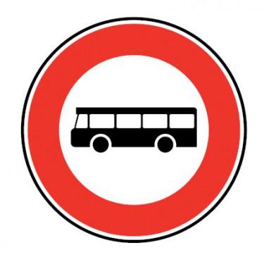 Panneau routier-type B interdiction  - B9f accès interdit aux véhicules de transport en commun de personne