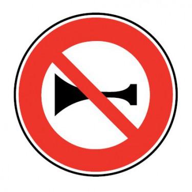 Panneau Interdiction de klaxonner - B16