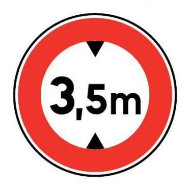 Panneau routier- B12 accès interdit aux véhicules ayant une hauteur, chargement compris, supérieure à la longueur indiquée