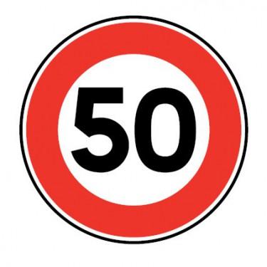 Panneau routier-type B interdiction  - B14 vitesse maximale autorisée  - Signalétique Express