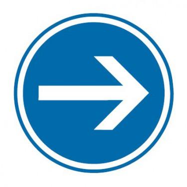 Panneau routier-type B Obligation  - B21-1 obligation de tourner à droite - Signalétique Express