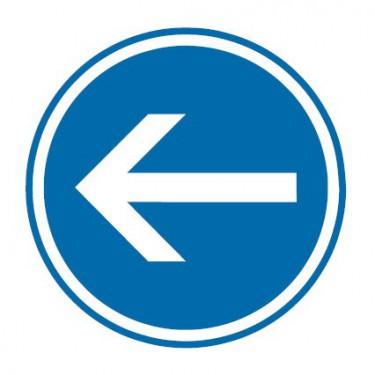 Panneau Obligation de tourner à gauche - B21-2