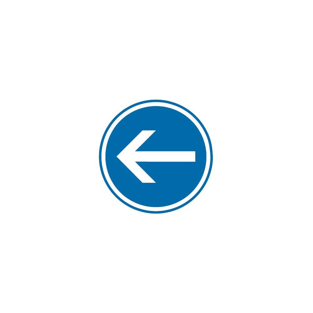 Panneau routier-type B Obligation  - B21-2 obligation de tourner à gauche - Signalétique Express