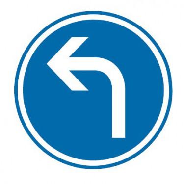 Panneau Direction obligatoire à gauche - B21c2
