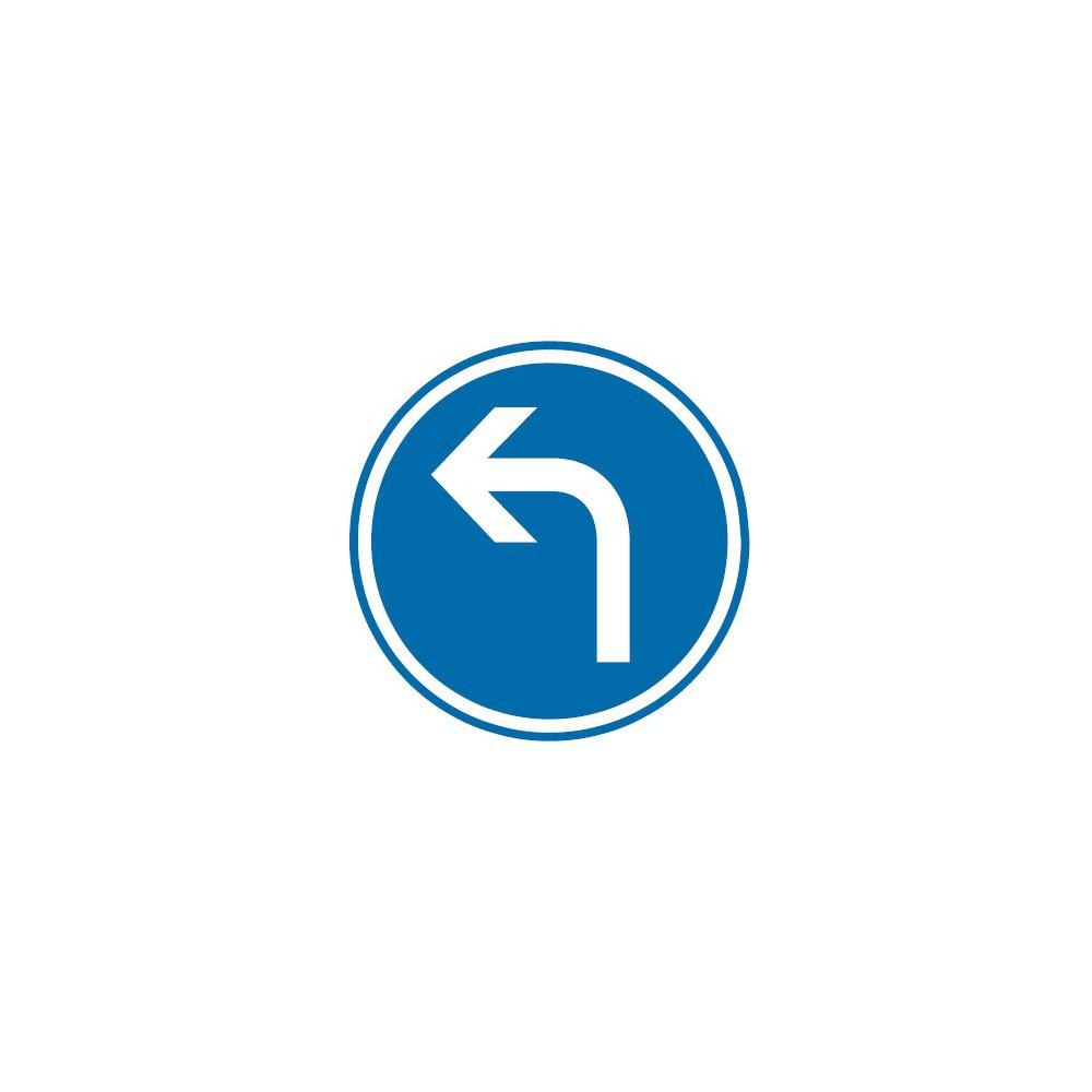 Panneau routier-type B Obligation  - B21c2 direction obligatoire à la prochaine intersection : gauche - Signalétique Express