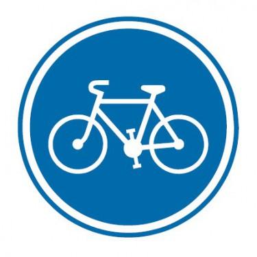 Panneau Piste ou bande cyclable obligatoire pour cyclistes et cyclomoteurs - B22a
