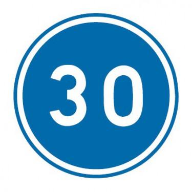 Panneau routier-type B Obligation  - B25 vitesse minimale obligatoire - Signalétique Express