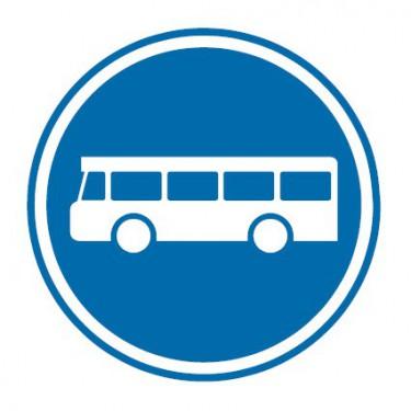 Panneau routier-type B Obligation  - B27a voie reservée aux véhicules des services réguliers de transport en commun