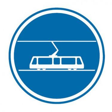 Panneau Voie reservée aux tramways - B27b