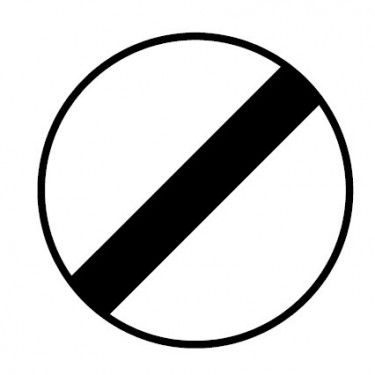 Panneau routier-type B interdiction  - B31 fin de toutes les interdictions précédemment signalées - Signalétique Express