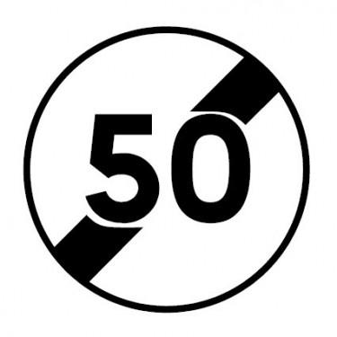 Panneau routier-type B interdiction  - B33 fin de vitesse maximale autorisée - Signalétique Express