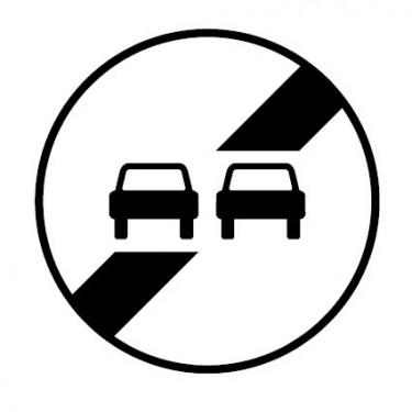 Panneau routier-type B interdiction  - B34 fin d'interdiction de dépasser - Signalétique Express