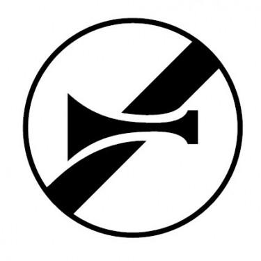 Panneau Fin d'interdiction de klaxonner - B35