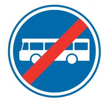 Panneau Fin de voies reservée aux transports en commun - B45a