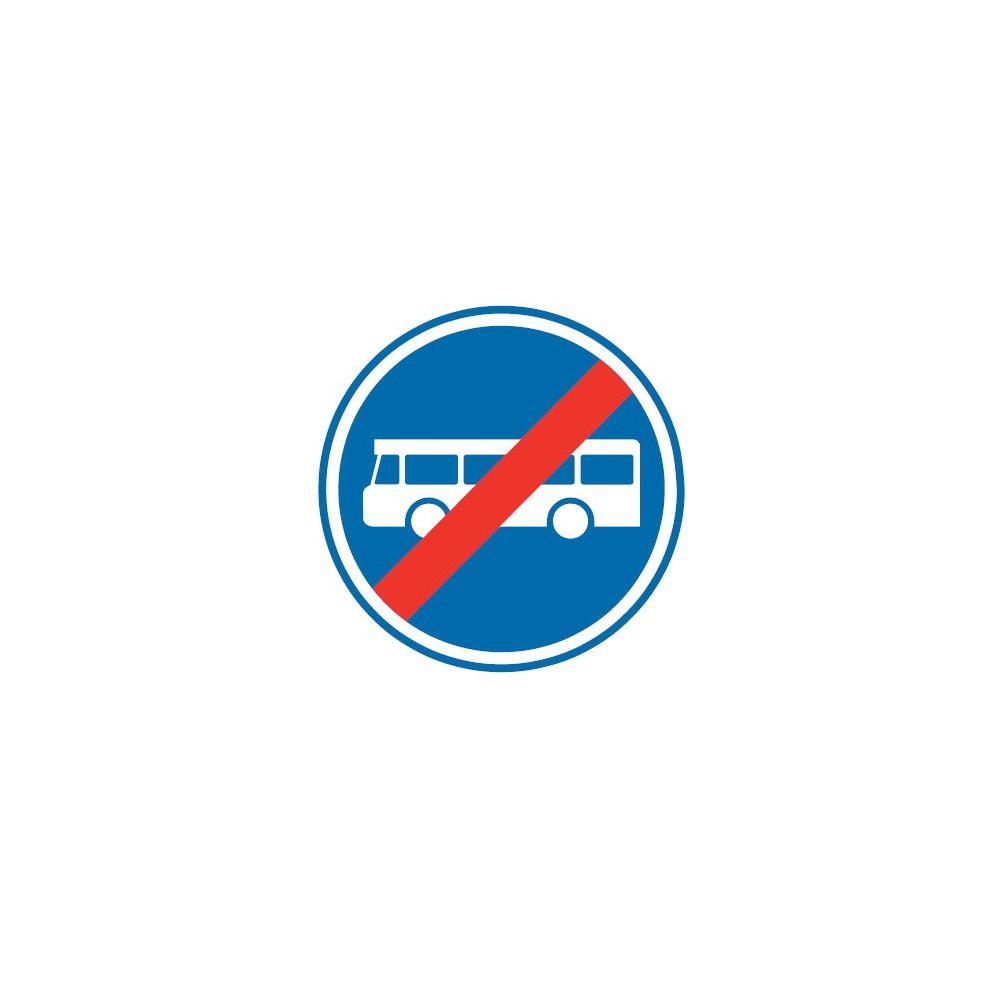 Panneau routier-type B Obligation  - B45a fin de voies reservée aux véhicules des services réguliers de transport en commun