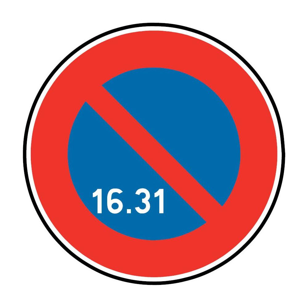 Panneau De Circulation Plat Aludibond Pu Autocollant Stationnement Interdit Lettres