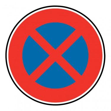 Panneau B6d arrêt et stationnement interdit à tous les véhicules