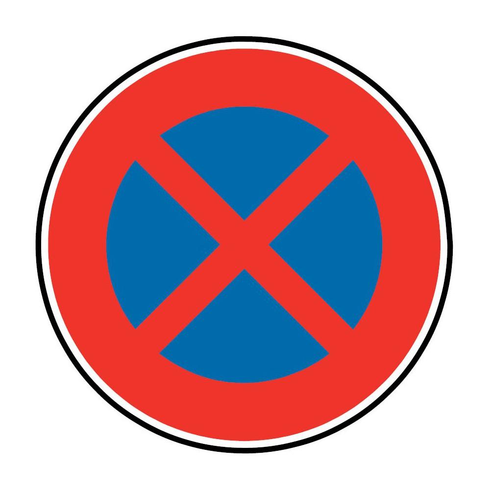 Panneau Arrêt et stationnement interdit à tous les véhicules - B6d
