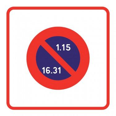 Panneau Zone à stationnement en alternance semi-mensuelle - B6b2
