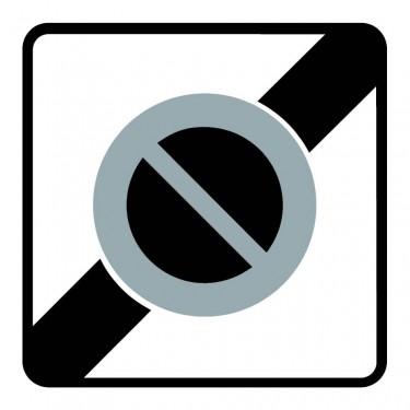 Panneau routier-type B Zones de circulation  - B50a fin de zone à stationnement interdit - Signalétique Express