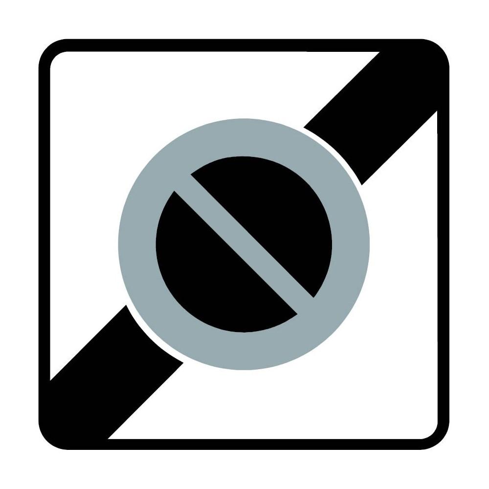 Panneau Fin de zone de stationnement interdit - B50a