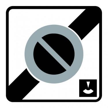 Panneau Fin de zone de stationnement à durée limitée et contrôlé par disque - B50c