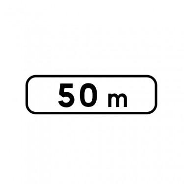 Panonceau de distance M1 pour panneaux de type AB