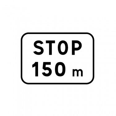 Panonceau Stop avec distance - M5a