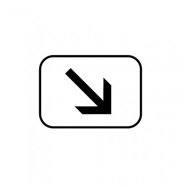 Panonceau Position de la voie concernée droite - M3a1