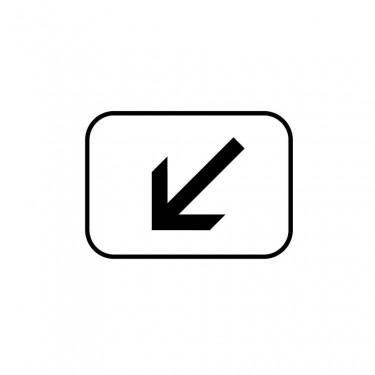Panonceau Position de la voie concernée gauche - M3a2