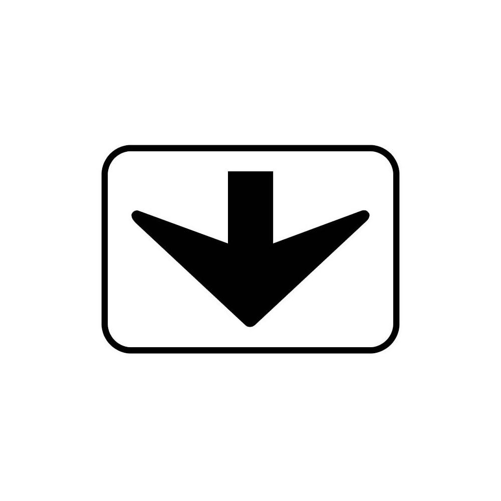 Panonceau Concerne la voie en dessous - M3d