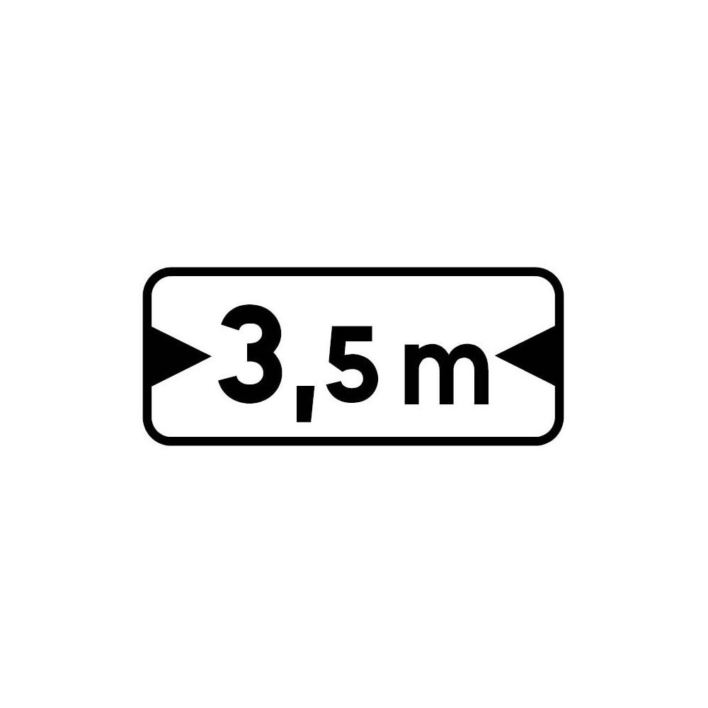 Panonceau Largeur maximum du véhicule personnalisable - M4u