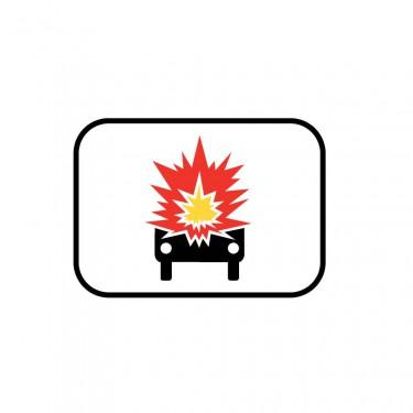 Panonceau Transport de marchandises explosives ou inflammables - M4k