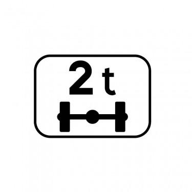 Panonceau Poids par essieu personnalisable - M4r
